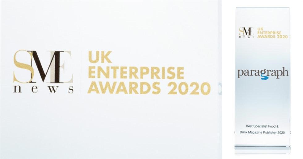 Paragraph's award from the UK Enterprise Awards 2020