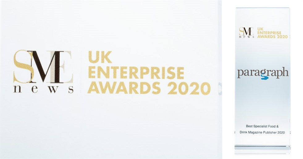 Paragraph's award from the UK Enterprise Awards 2020