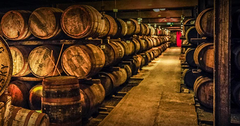Barrels in a warehouse